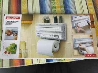 Triple Paper Towel/ Foil/ Cling Wrap  Kitchen Dispenser