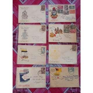 First Day Cover Federation of Malaya 1957 with Stamps