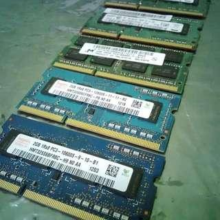 2GB & 1GB DDR3 Laptop RAM