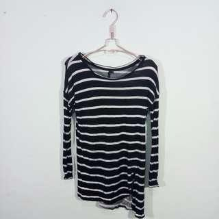 Gee eight striped loose t-shirt long sleeve