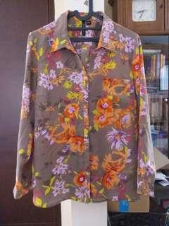Floral colorful blouse