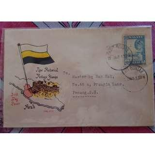 First Day Cover Perak 1957 Malaya with Stamp