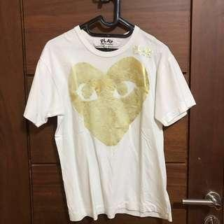 CDG YELLOW HEART TEES