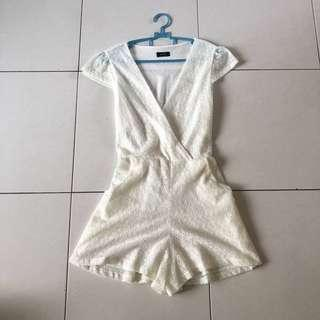 White Lace Romper Playsuit