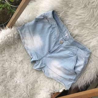 Ribbon jeans short