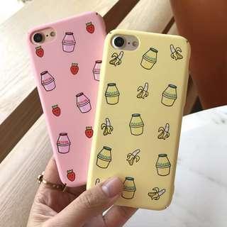 iPhone Hard Case Strawberry and Banana Milk 🍓🍌