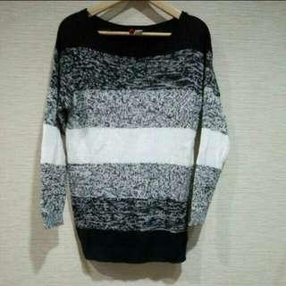 H&M 黑白條紋針織毛衣