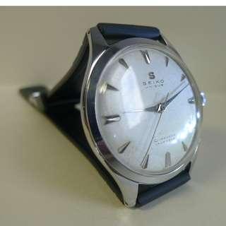 Great condition ! 1950s' ( S mark ) Seiko Unique Diashock 17-J Hand Winding.....