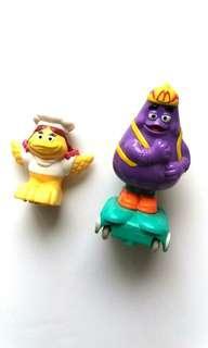 滑嘟嘟 小飛飛 麥當勞 懷舊玩具 兩隻 1999