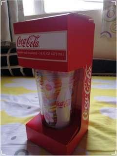 可口可樂雙層杯 coca cola
