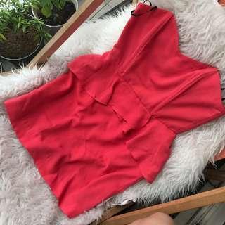 F21 coral dress