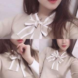 韓風🇰🇷團購價 instagram女神蝴蝶結knit top 直間上衣