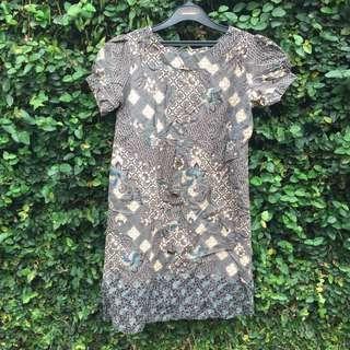 Dress batik kerja
