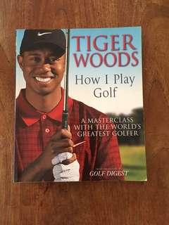 Tiger Woods How I Play Golf instructional Guide Book Books
