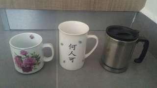 3 Mugs - Cawan