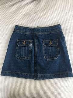 'Dotti' denim zip up skirt