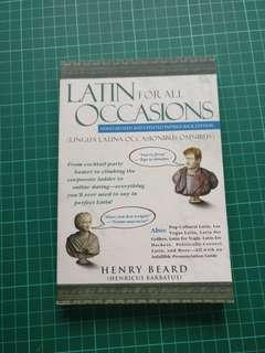 Latin for occasions