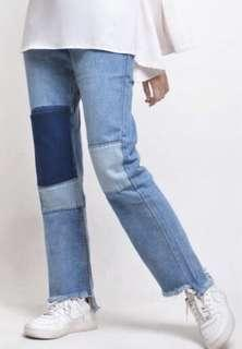Calaqisya Patched Jeans Size XL