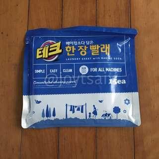 🚚 韓國 LG 蘇打酵素洗衣紙 15張入