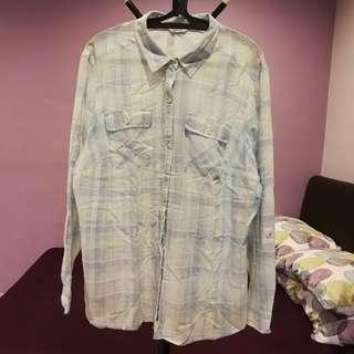 Marks & Spencer Classic pastel checkered blouse UK18 EUR46 (n/p rm256)