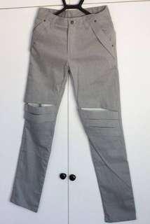 [HOLIDAY SALE] CHAI Grey Bondage Cut-Out Pants