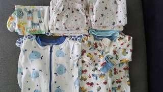 9 Pieces Basic Baby Clothing