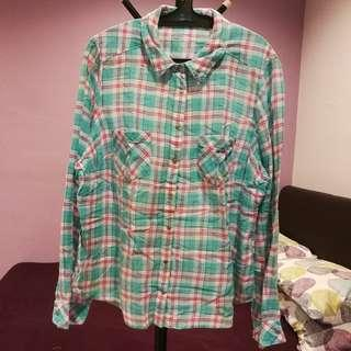 Marks & Spencer Turquoise Checkered Blouse UK18 EUR46 (n/p rm256)
