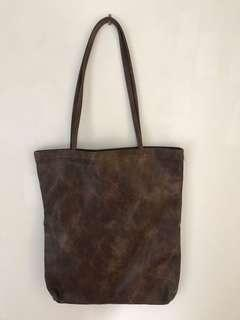 Faux leather bag large new