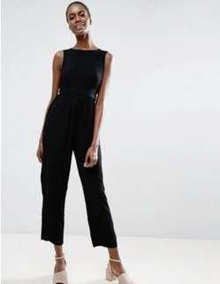 ASOS crimped fabric sleeveless jumpsuit size S