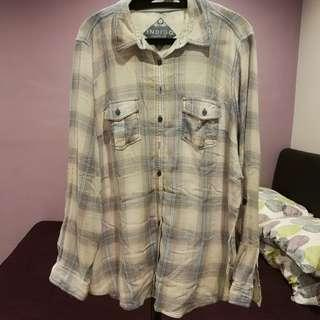 Marks & Spencer checkered pastel blouse shirt Indigo Collection size UK20 EUR48 (np rm256)