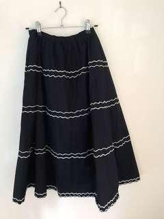 Korean fashion a-line skirt puffy size s with pockets