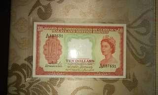 AU 1953 Malaya $10
