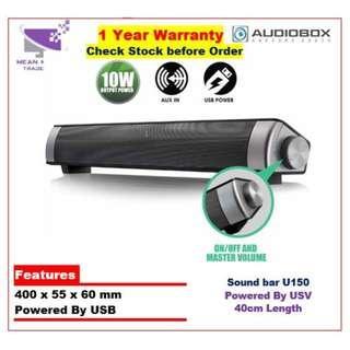#Audiobox SonicBar U150 Powerful Sound Bar Speaker For Monitors, PC, Laptop#