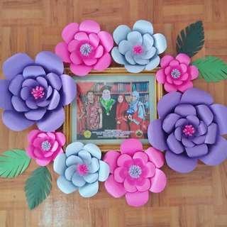 Paper flowers hiasan dinding