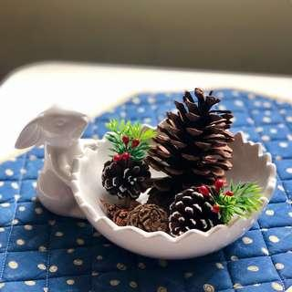 Ceramic white bunny bowl 白色兔仔碗