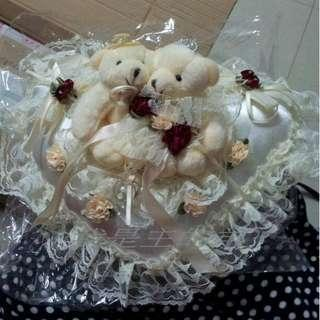 婚禮介指枕Wedding ring pillow