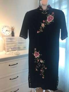Tailored Cheongsam Dress (Purple)