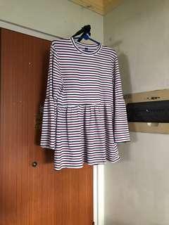 Stripes Babydoll Dress
