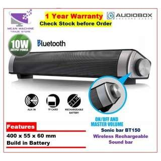#Audiobox SonicBar BT150 Rechargeable Bluetooth Sound Bar# No Ratings Yet