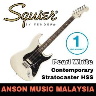 Squier Contemporary Stratocaster HSS Electric Guitar, Pearl White