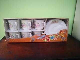 Vintage coffee cup and saucer set