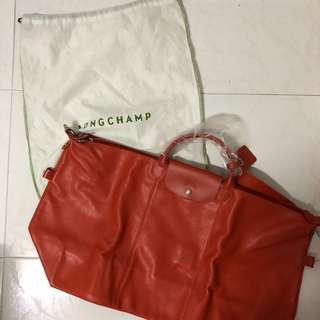 Longchamp Leather Travel Bag