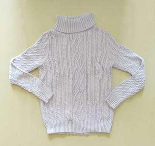 🚚 淡紫高領針織毛衣