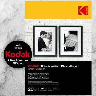 Kodak Ultra Premium Photo Paper - Satin 280gsm