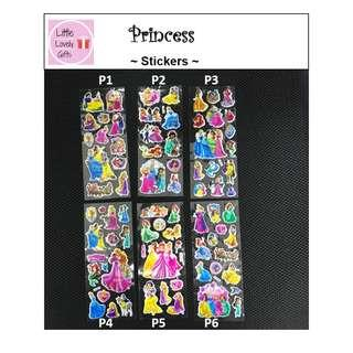 Princess Stickers (Buy 4 and Get 1 FREE)