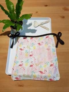 🚚 可愛粉紅鶴手作兒童圍裙