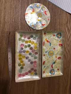 日本製貝殼特色方碟&杯墊