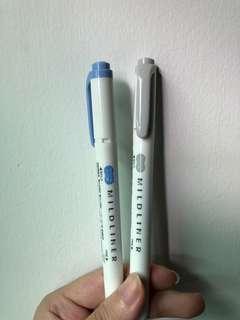 🚚 Midliner highlighter (1 blue, 1 grey)