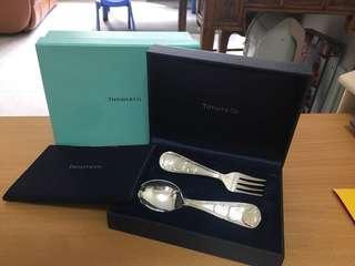 Tiffany 小童刀叉 純銀