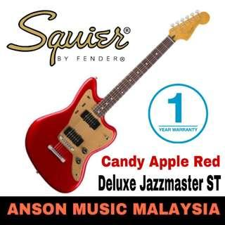 Squier Deluxe Jazzmaster ST Electric Guitar, Candy Apple Red